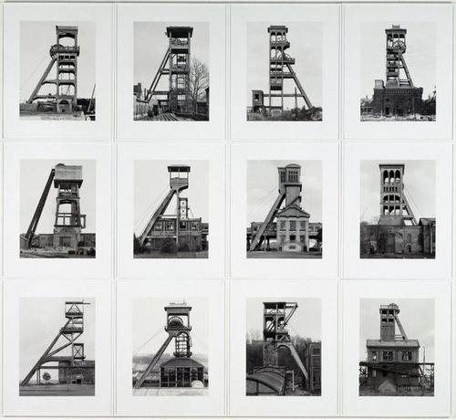 Bernd et Hilla Becher, ''Tours d'extraction'', 1970-1988